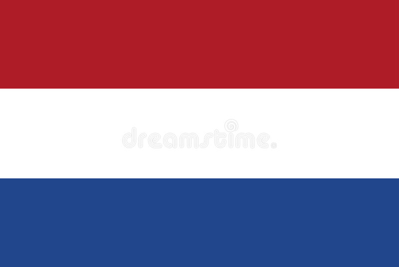 Нидерланды флага иллюстрация вектора