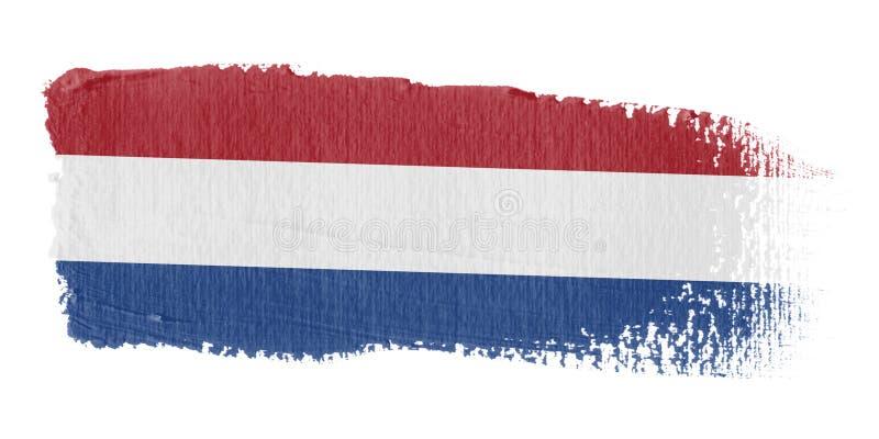 Нидерланды флага brushstroke иллюстрация вектора