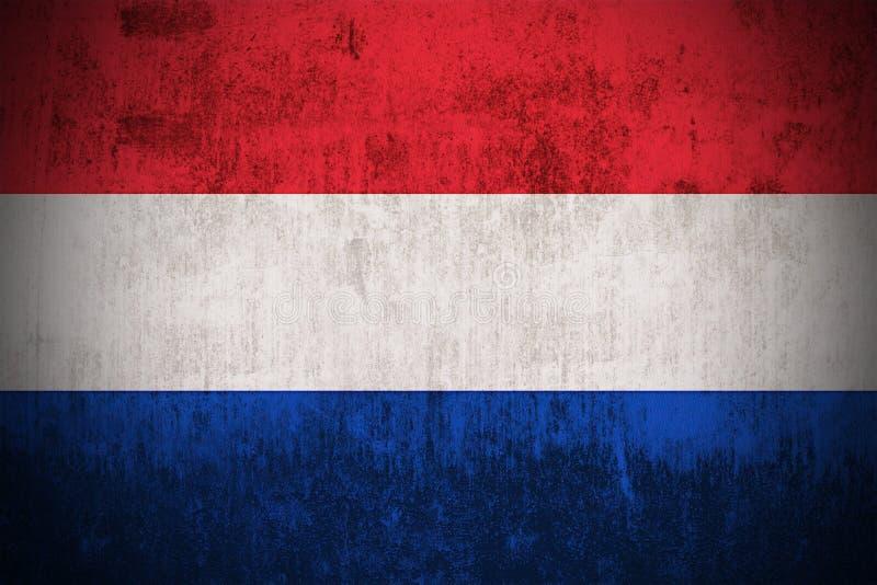 Нидерланды grunge флага бесплатная иллюстрация