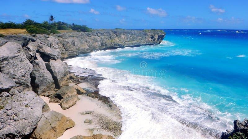 Нижний пляж залива - Барбадос стоковое фото