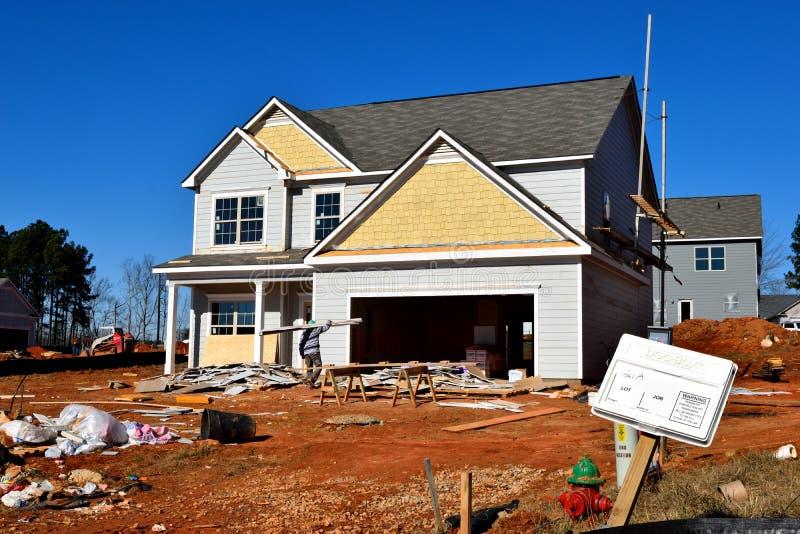 нижняя дома конструкции новая стоковая фотография