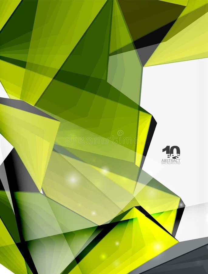 Низкая поли геометрическая предпосылка формы 3d иллюстрация штока