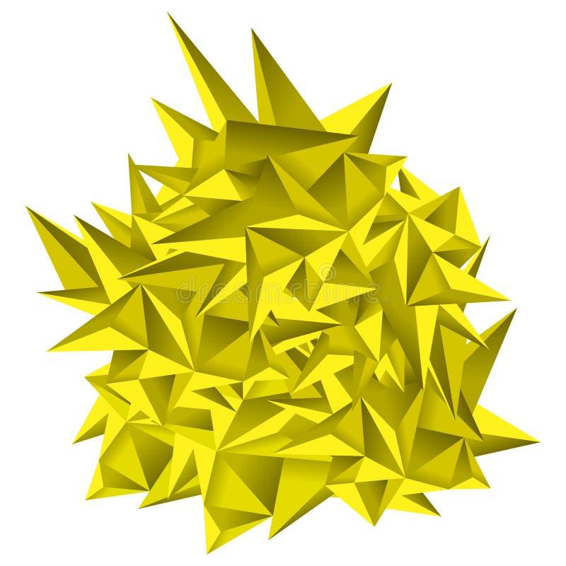 низкая предпосылка геометрии полигона 3D Абстрактная полигональная геометрическая форма Искусство стиля Lowpoly минимальное треуг иллюстрация штока