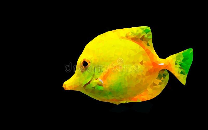 Низкие поли рыбы, море, красивая рыба бесплатная иллюстрация