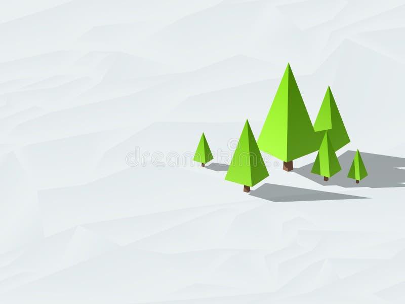 Низкие поли деревья бесплатная иллюстрация