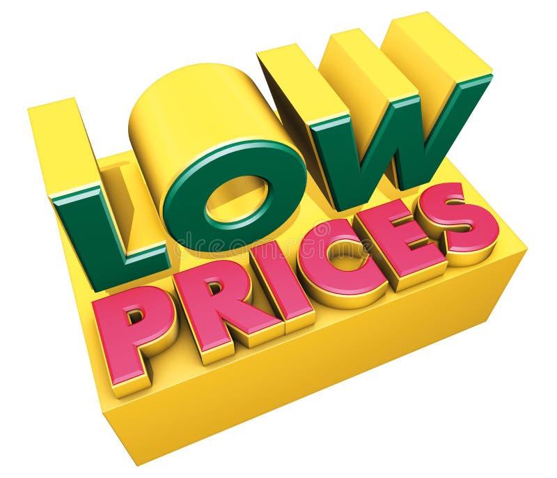 низкие цены иллюстрация штока