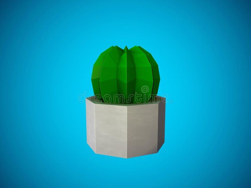 Низкий поли кактус бесплатная иллюстрация
