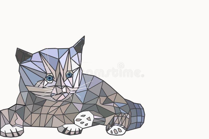 Низкий поли кот стоковое изображение rf