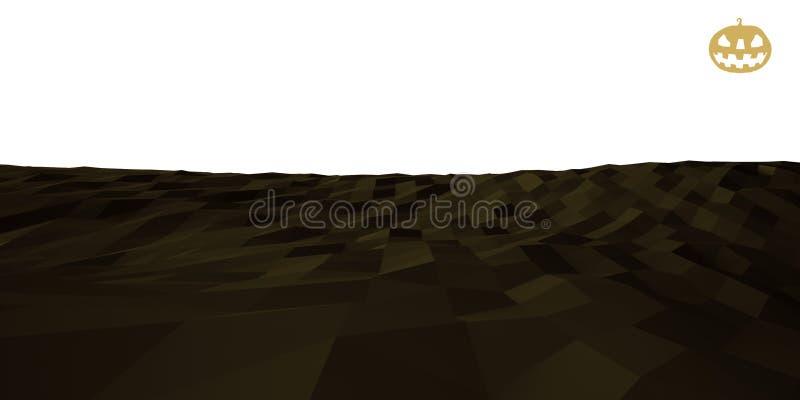 Низкий поли ландшафт иллюстрация штока