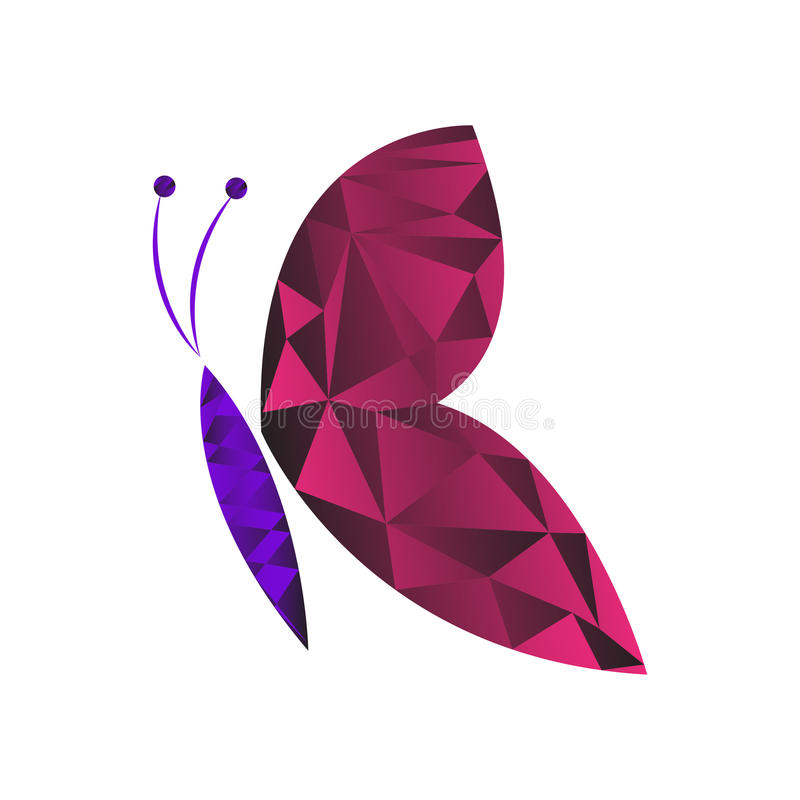 Низкий поли вектор бабочки бесплатная иллюстрация