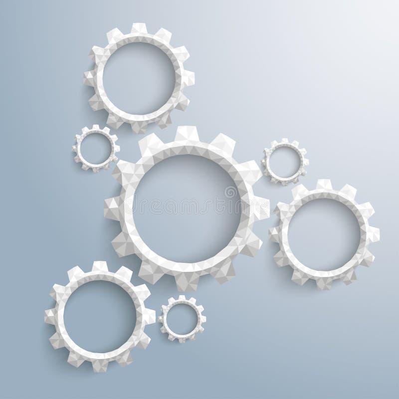 Низкий поли цикл Infographic колес шестерни бесплатная иллюстрация