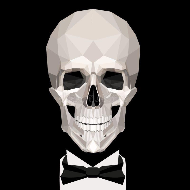 Низкий поли череп бесплатная иллюстрация