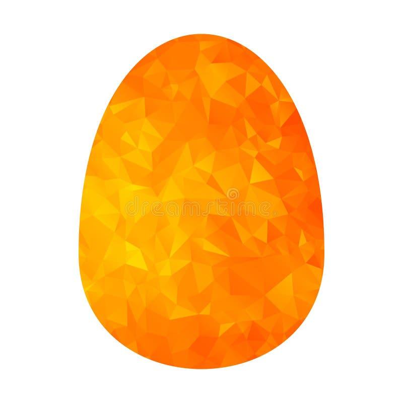 Низкое поли золотое яичко иллюстрация штока