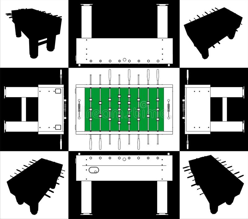низкопробный вектор таблицы футбола футбола стороны 01 бесплатная иллюстрация