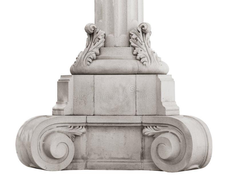 Низкопробный старый мраморный столбец стоковая фотография rf