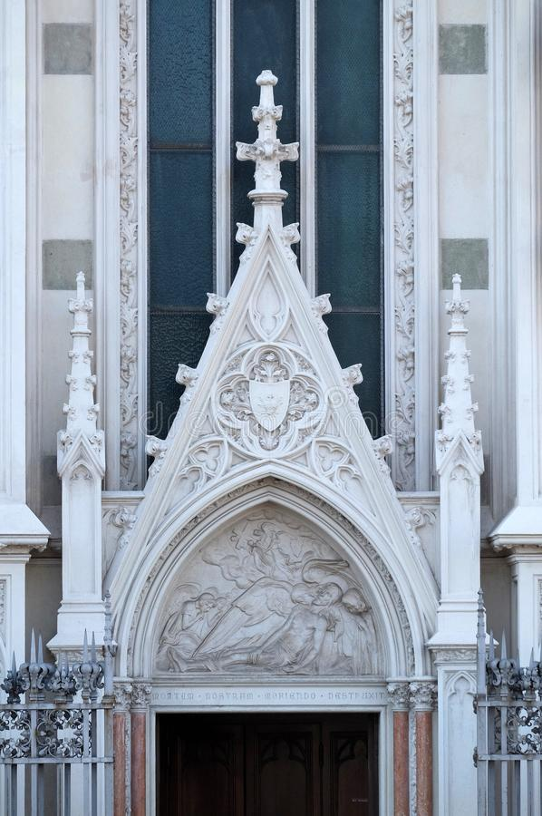 Низложение Христоса, церков Sacro Cuore del Suffragio в Риме стоковые изображения