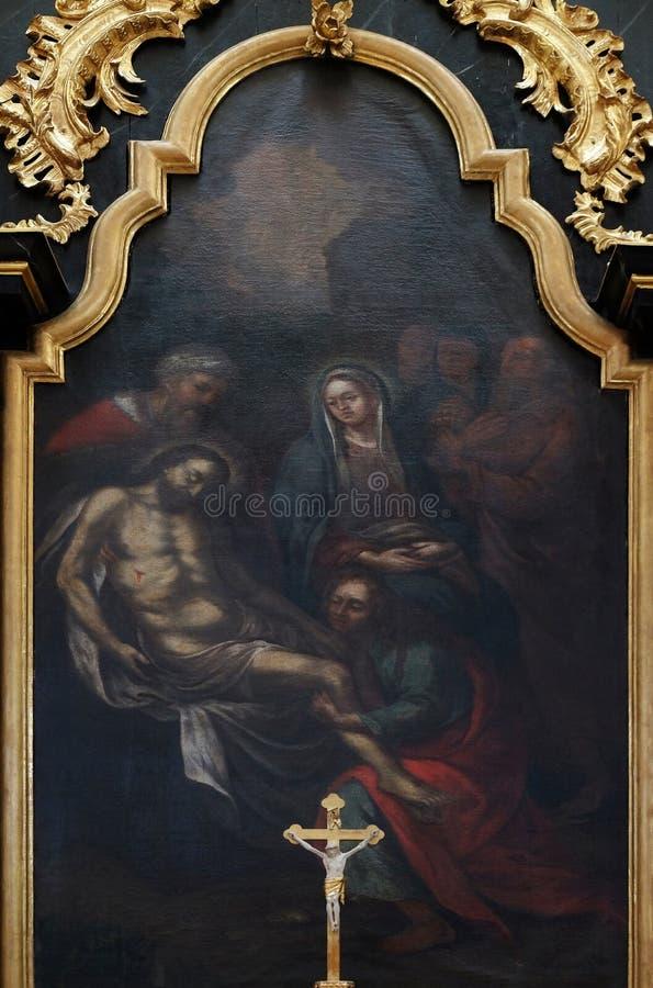 Низложение Христос от креста стоковые фото