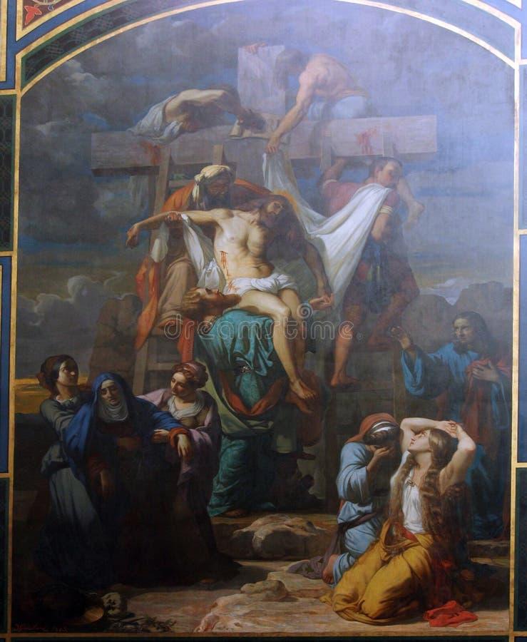 Низложение от креста стоковое фото