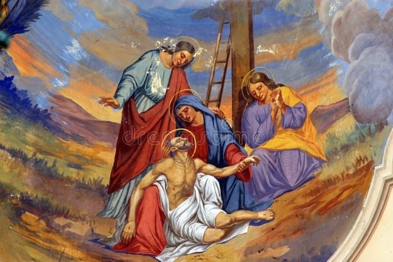 Низложение от креста стоковая фотография rf