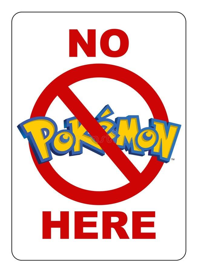 Никакое Pokemon здесь не подписывает бесплатная иллюстрация