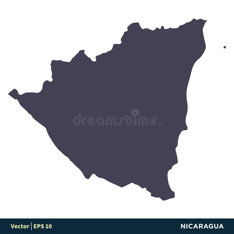 Никарагуа - страны Северной Америки составляют карту дизайн иллюстрации шаблона логотипа вектора значка r иллюстрация штока