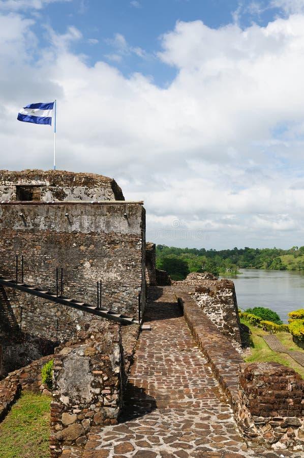 Никарагуа, укрепленный замок в El Castillo стоковые фотографии rf