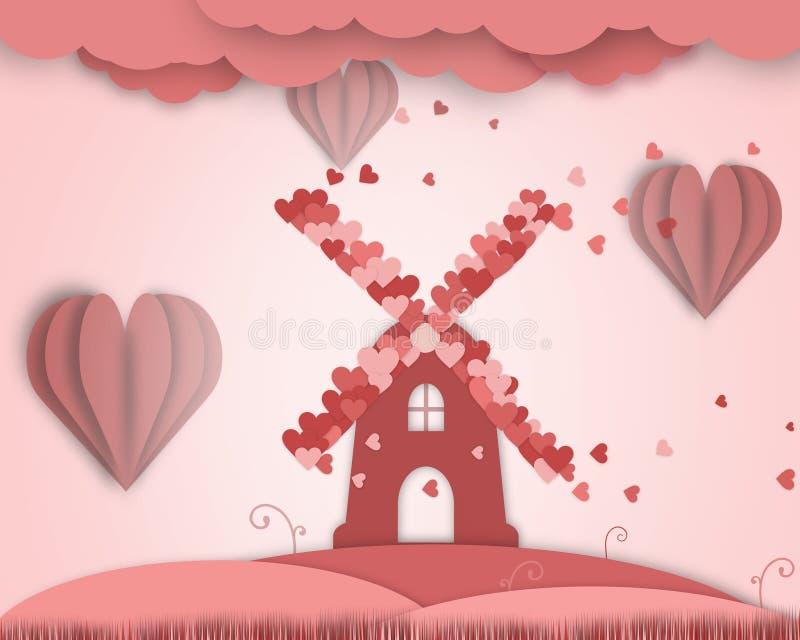 Никогда не кончать плакат сказки влюбленности иллюстрация вектора