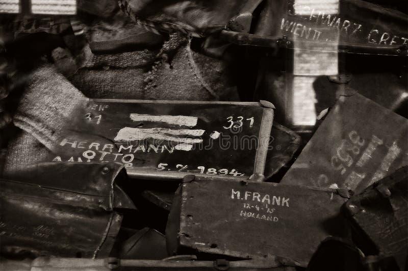 Никогда не возвращать смесь Освенцима стоковые изображения rf