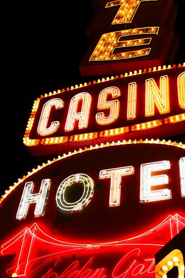 Никогда не спит город Лас-Вегас стоковая фотография