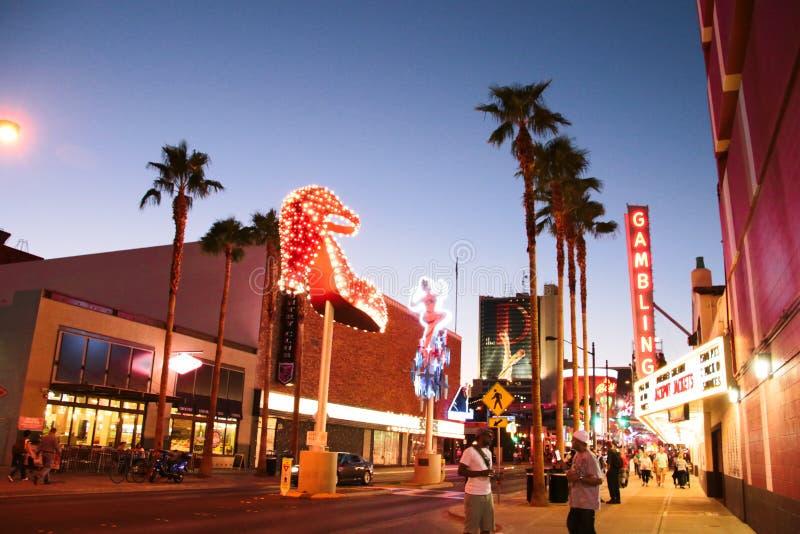 Никогда не спит город Лас-Вегас стоковое фото