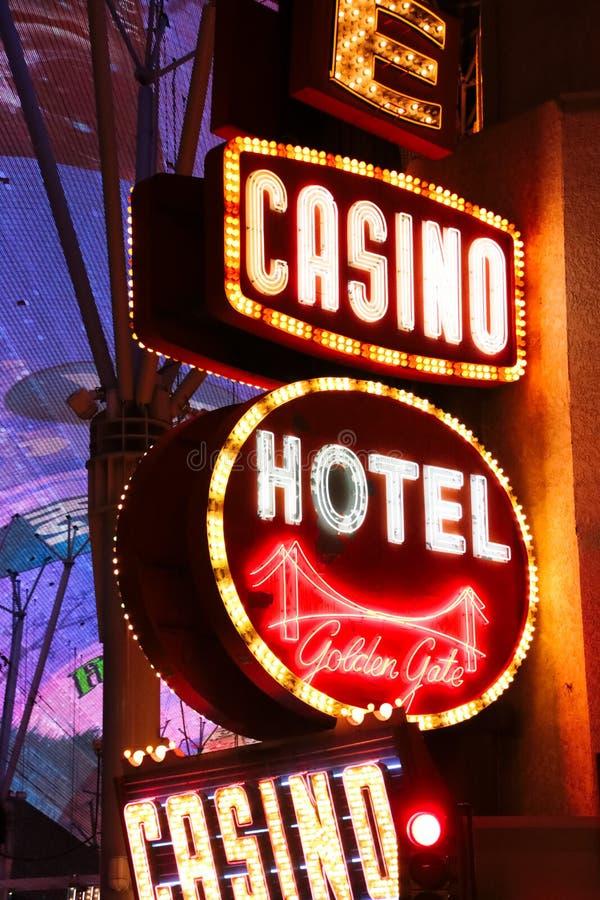 Никогда не спит город Лас-Вегас стоковые изображения