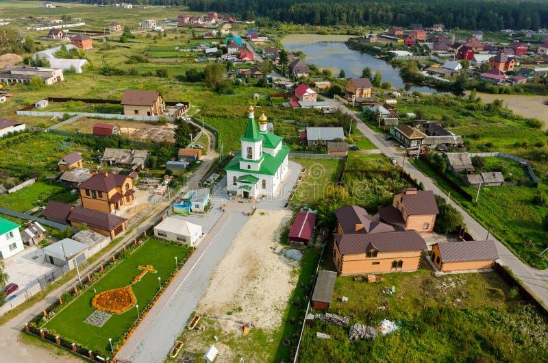 Николас церковь Wonderworker Perevalovo стоковое фото rf