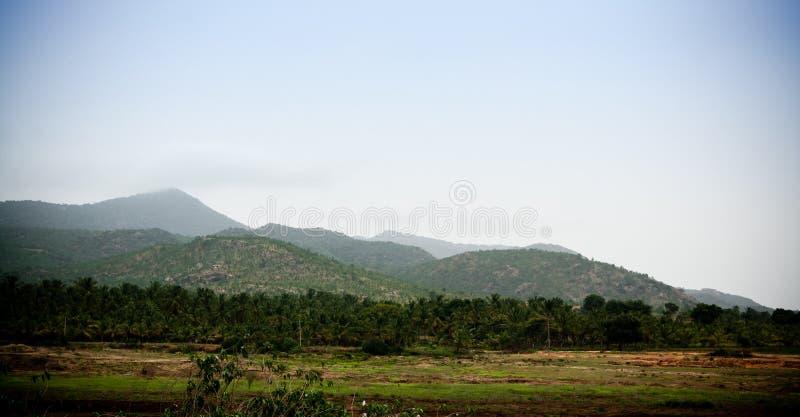 Нисходящая строка холмов стоковая фотография rf