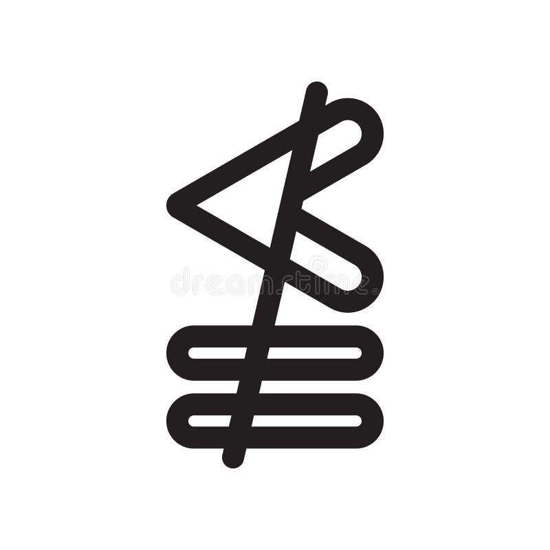 Ни более менее или точно равный знак и символ вектора значка символа изолированные на белой предпосылке, ни более менее или точно бесплатная иллюстрация