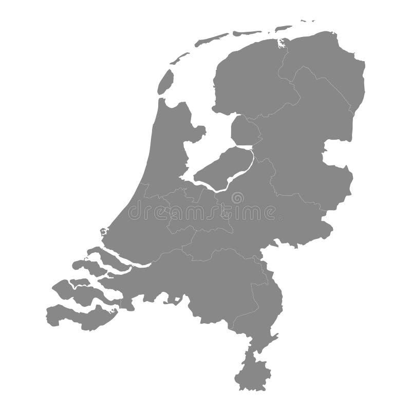 Нидерландская карта Высокие границы детали, и правильные формы бесплатная иллюстрация