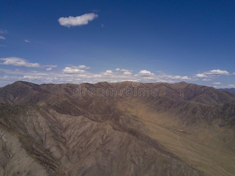 дни altai продолжают лето гор Красивейший ландшафт гористой местности Россия стоковое изображение