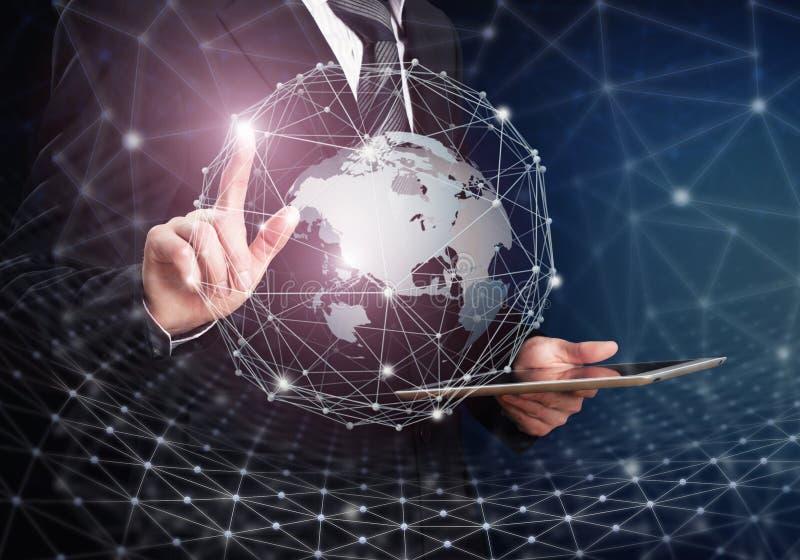 Новаторская технология Глобальная концепция соединений стоковое фото rf