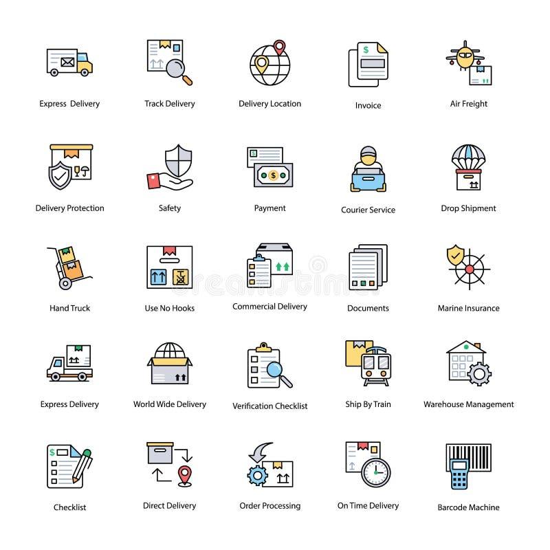 Новаторские значки поставки снабжения иллюстрация штока