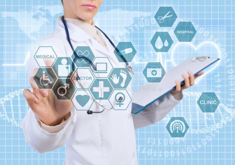 Новаторские технологии в медицине стоковые изображения rf