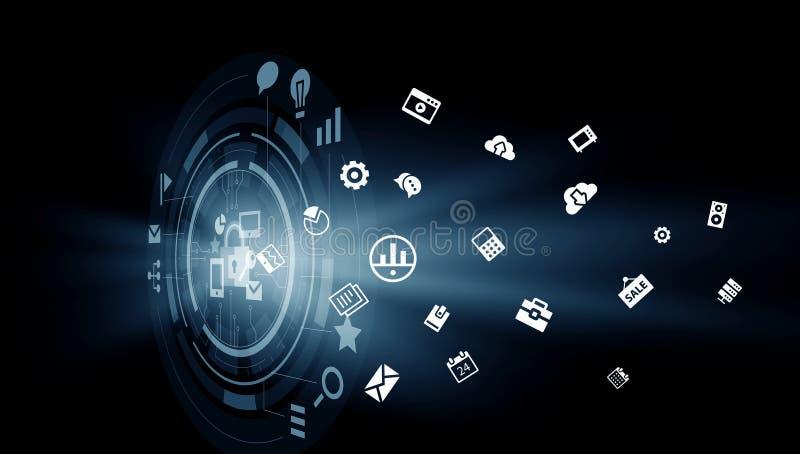 Download Новаторские технологии средств массовой информации Мультимедиа Стоковое Фото - изображение насчитывающей сеть, символ: 81807560