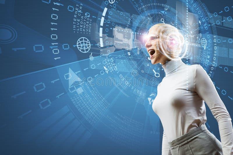 Download новаторские технологии стоковое фото. изображение насчитывающей женщина - 41650212