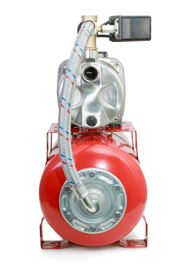 Новая автоматическая водяная помпа на белой предпосылке стоковое изображение