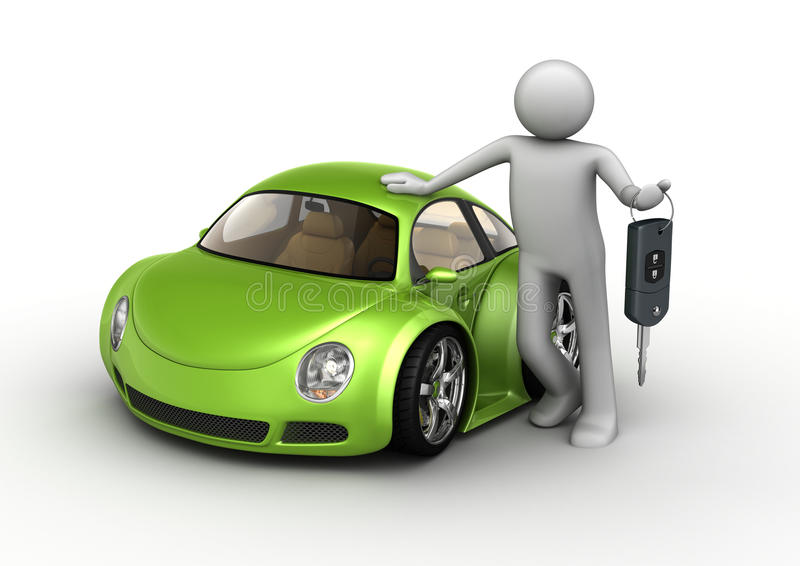 новая автомобиля зеленая иллюстрация штока