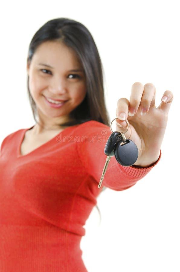 новая автомобиля ключевая стоковые фото