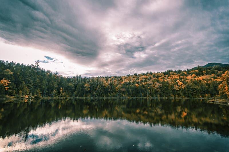 Новая Англия в падении стоковое изображение
