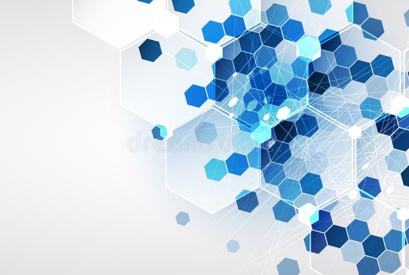 Новая будущая предпосылка конспекта концепции технологии иллюстрация вектора