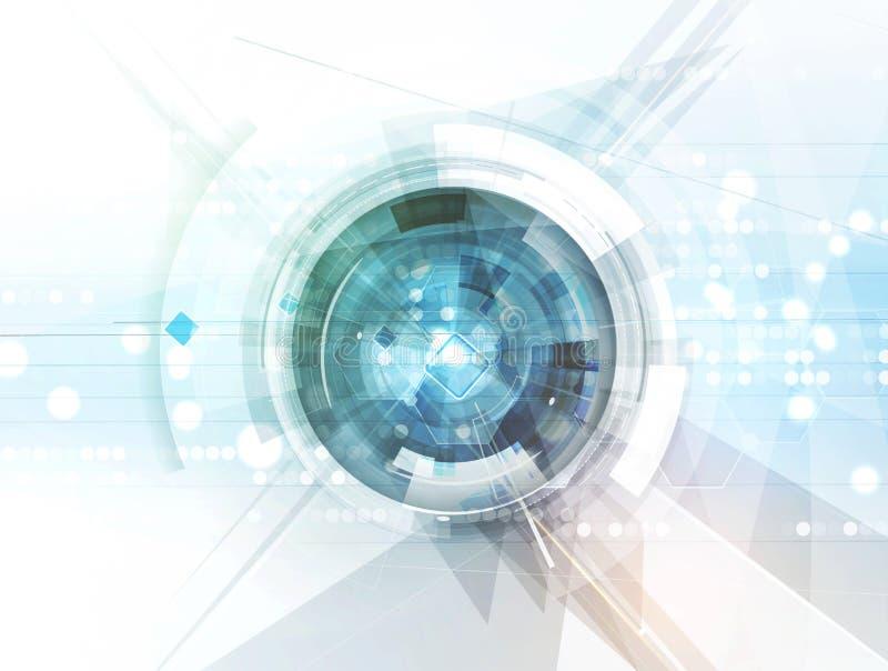 Новая будущая предпосылка конспекта концепции технологии иллюстрация штока