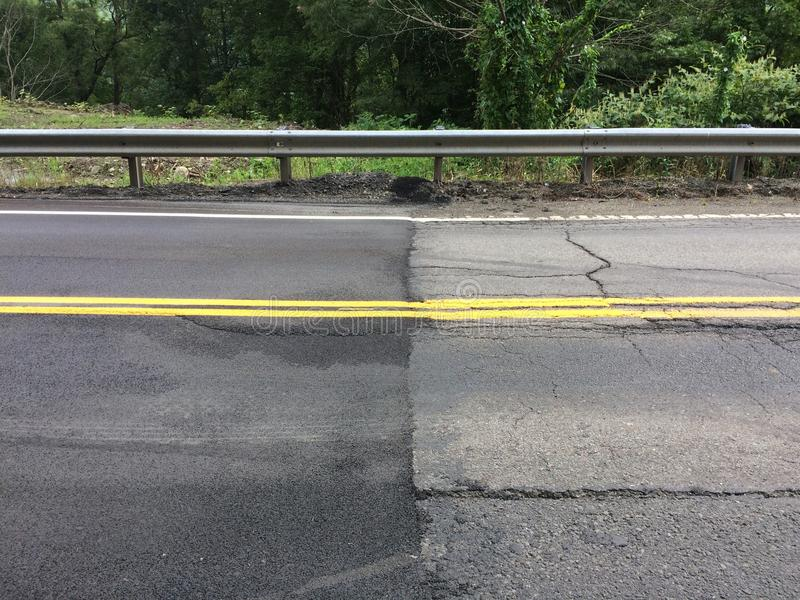Новая граница Йорк-Пенсильвании вымощая границу стоковое изображение