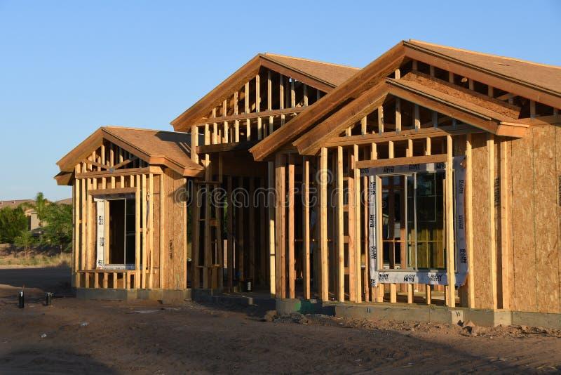 Новая домашняя конструкция обрамляя в юго-западе стоковые изображения rf