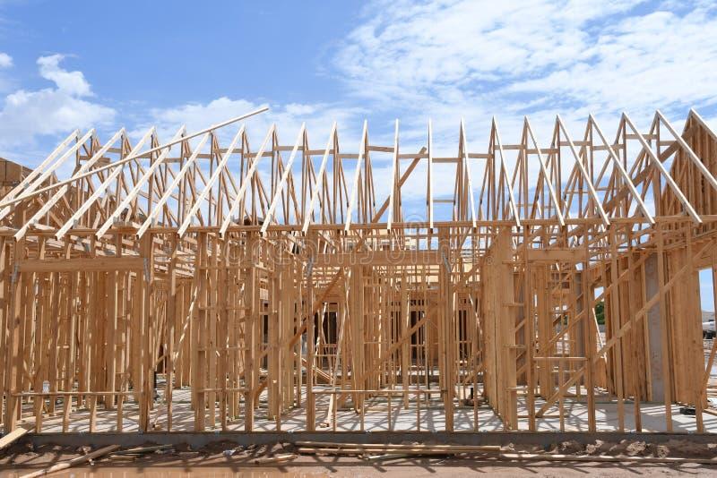 Новая домашняя конструкция обрамляя в юго-западе стоковая фотография rf